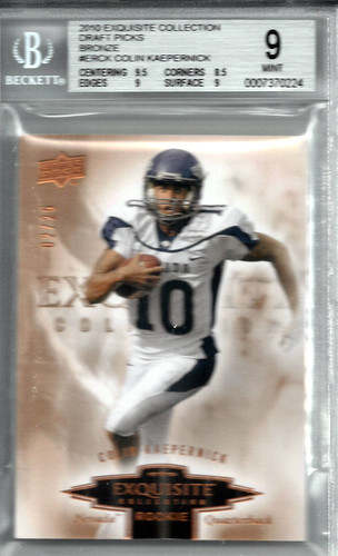 2010 Exquisite Collection Draft Picks Bronze #ERCK Colin Kaepernick (2 of 25) BGS 9