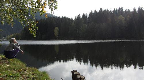 a lakeside contemplation