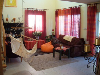 Sitting hammock in the living room flickr photo sharing for Living room hammock