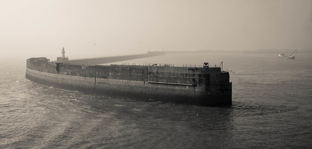 Foggy day: Port of Dover...