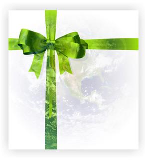 禮物帶來的是感恩的心意,而步是地球的負擔。
