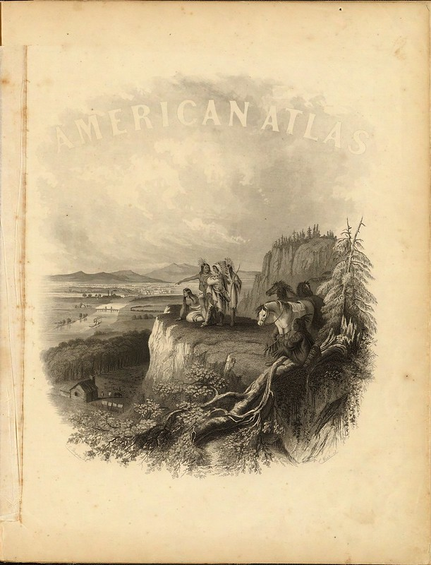 (Half Title Page to) Johnson's New Illustrated (Steel Plate) Family Atlas 1860