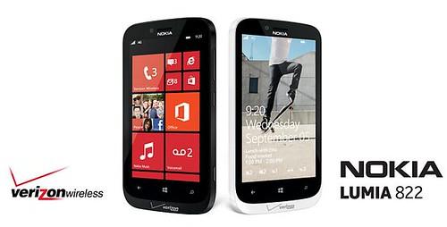 Verizon Nokia Lumia 822