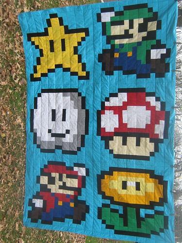 The finished Mario Quilt