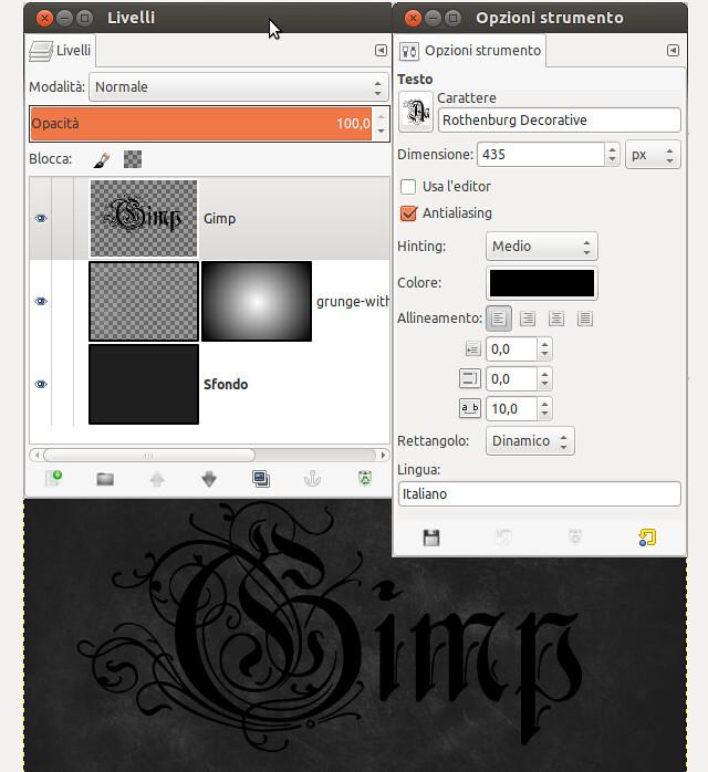 Tutorial gimp by dongogo effetto testo metallico in gimp - Testo a finestra ...