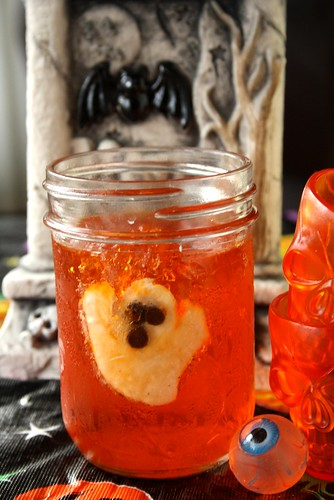 Halloween Ghostly Orange Jell-O Treat