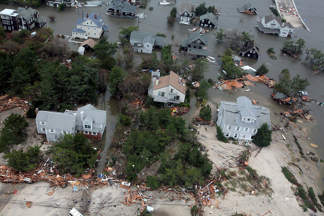 Aerial photos of New Jersey coastline in the aftermath of Hurricane Sandy [Image 15 of 19]