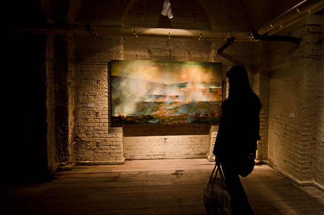 A contemporary art exhibit housed in the historical basement of London's Somerset House.