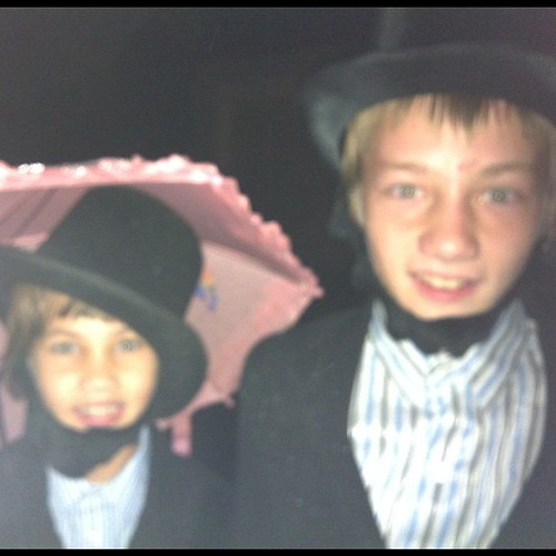 I dressed both my son and daughter as Abe Lincoln