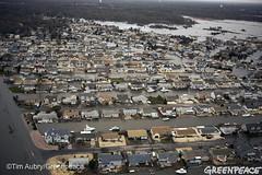 2012年珊蒂颶風重創紐澤西州。美國綠色和平Tim Aubry攝。
