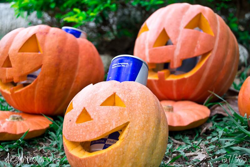 157/365 - RedBull Pumpkins - 31.10.12