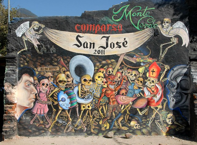 day of the dead mural oaxaca flickr photo sharing