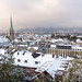 Season's First Snow in Zurich by rgrieder