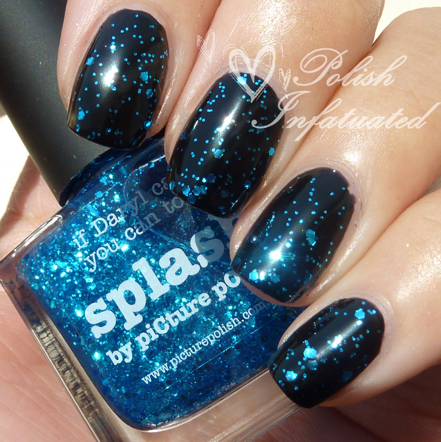 picture polish splash over black base3