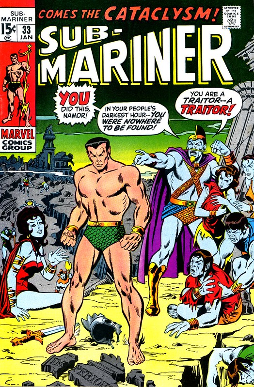 Sub-Mariner 33 1971 color cover by Sal Buscema