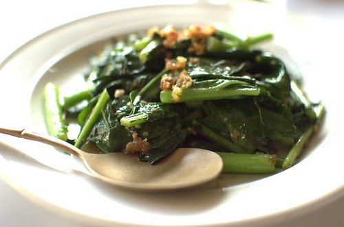 Stir-fried salted fish with Chinese broccoli