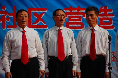 singing in Chengdu, China