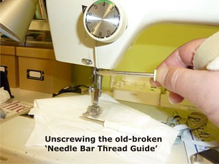 08 Needle Bar Thread Guide - Repaired (Jan 2013)