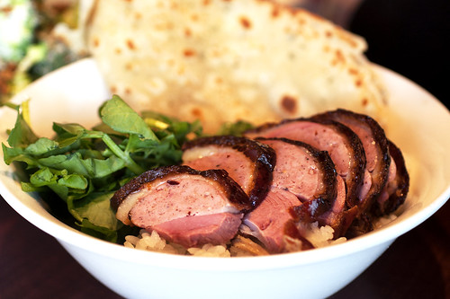 rotisserie duck over rice @ momofuku ssam