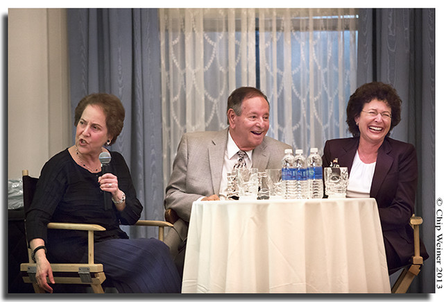 The Power Table. Sandra Freeman describes funny tales from the mayors office as Dick Greco and Pam Iorio laugh_1