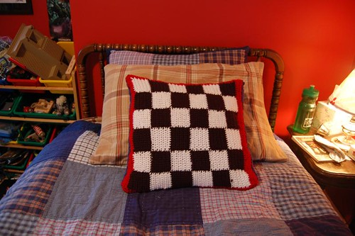 checkerboard pillow