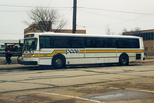 A Pace 40 foot Orion transit bus.  La Grange Illinois.  March 1989. by Eddie from Chicago