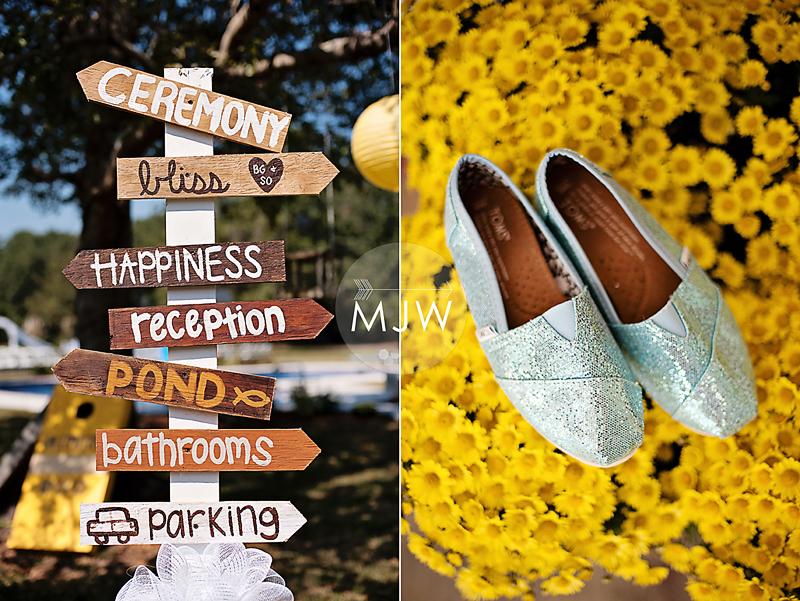 Mississippi Coast-Backyard Wedding-Yellow and Gray-Fall Wedding