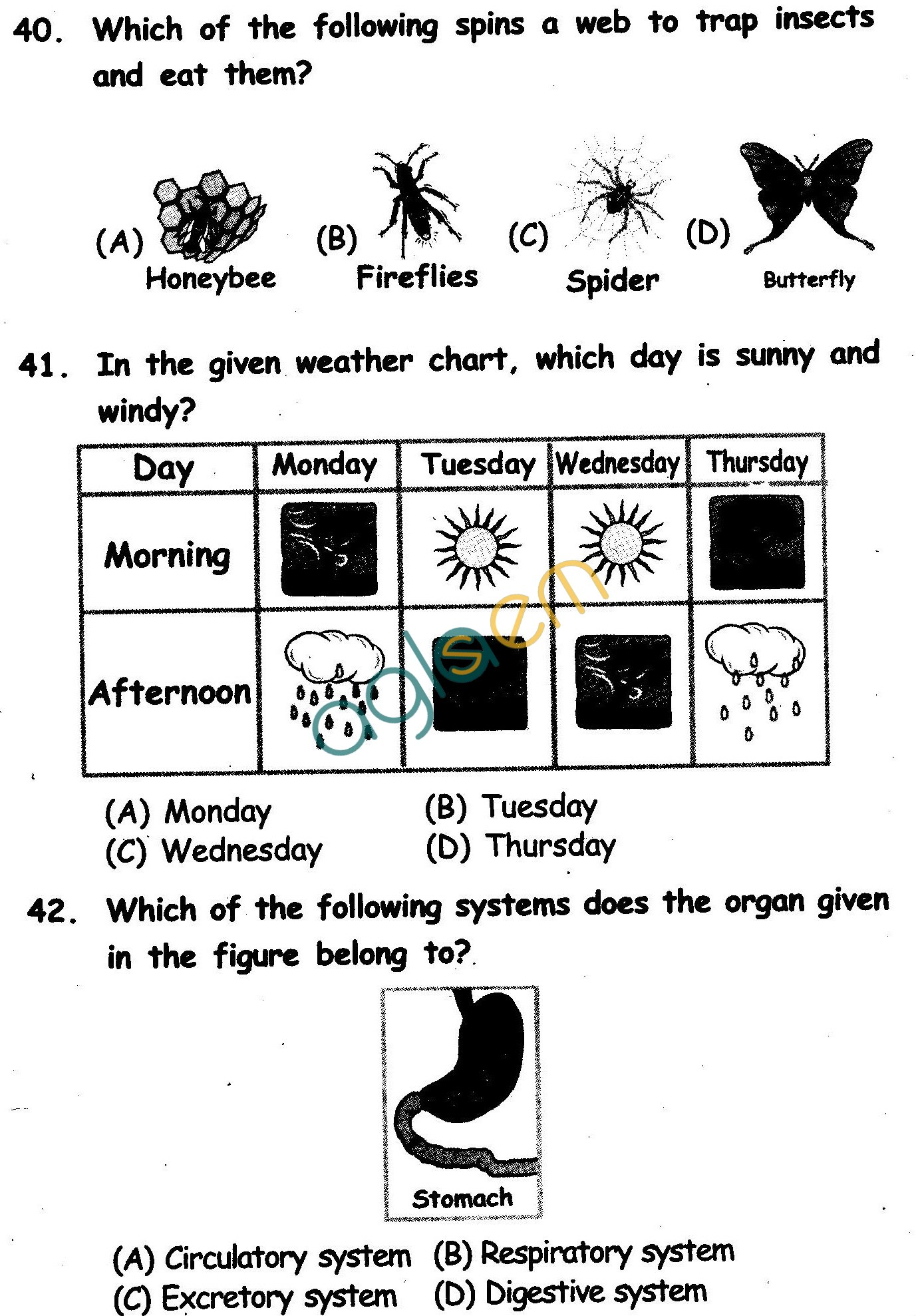 NSTSE 2011 Class II Question Paper with Answers - Science