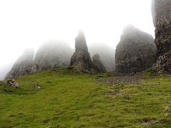 At Quiraing on Skye, again lovely scottish weather
