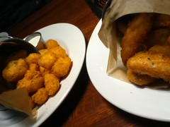 Cheese curds and crispy little fishies