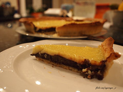 Dark and White Chocolate Tart