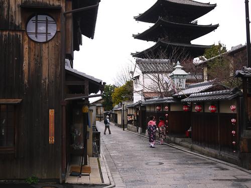 Kimonos on the street