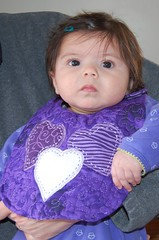 My new purple bib!!