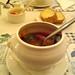 海豚灣-義式番茄海鮮湯+巧達酥皮濃湯