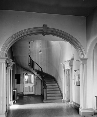 Detail, Main Hall Looking North. - Marine Hospital, Third & Kilgour Streets, Cincinnati, Hamilton County, OH