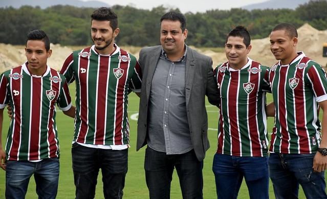 Fluminense: Reforços são apresentados e jogadores conhecem o CT tricolor
