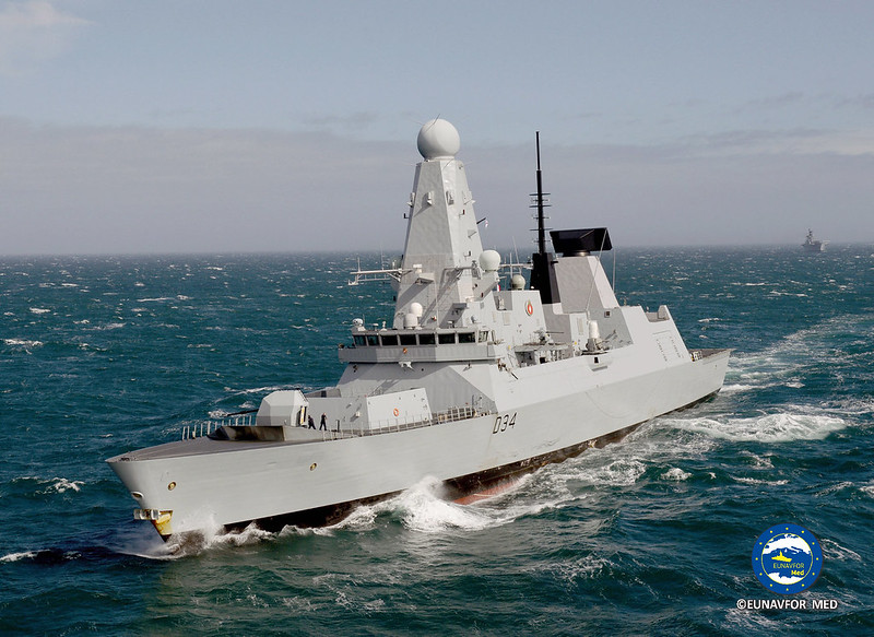 The British HMS Diamond joins operation SOPHIA – EUNAVFOR MED