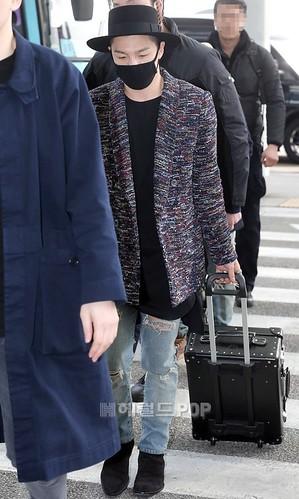Big Bang - Incheon Airport - 21mar2015 - Tae Yang - Herald Corp - 02