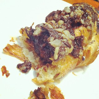 Cafe France Chocolate Walnut Croissant. Melt in our mouth chocolate. Yummy with coffee! #breakfast