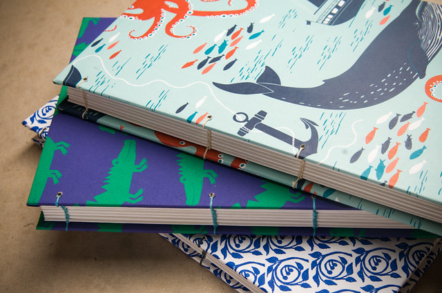 Coptic Sketchbooks handbound by Kleiner Eisbar