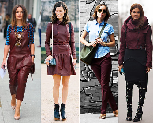 Oxblood trend fall 2012
