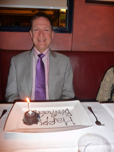 60th birthday meal - the birthday boy