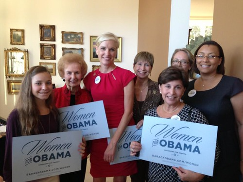 Cecile Richards visits women in Martin County.