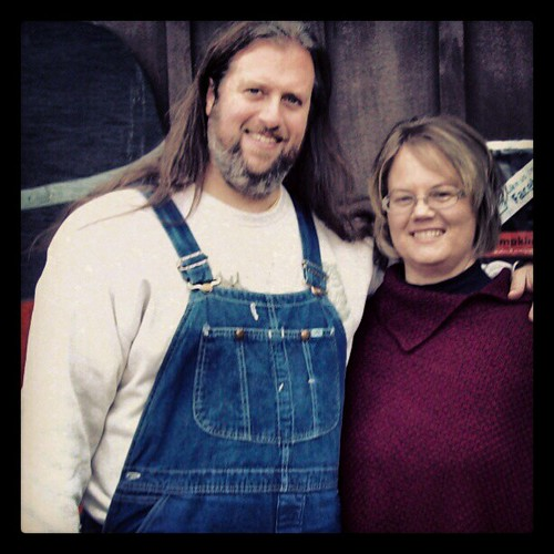 The Wife and I at #Pumpkinville. Days like this were made for #overalls!