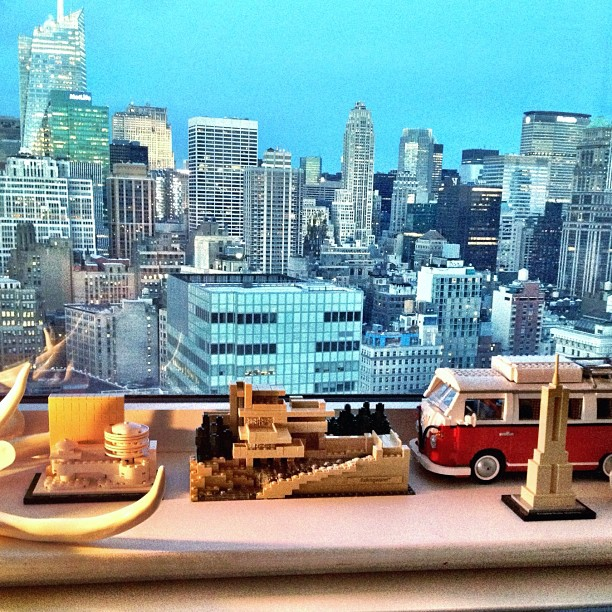 Just added Lego Fallingwater to the ledge with Lego VW, Lego ESB and Lego Guggenheim