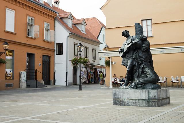 Deptak - Pomnik Petrica Kerempuh - Zagrzeb / Zagreb - Croatia
