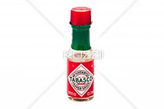image of a tabasco sauce bottle against plain whit…