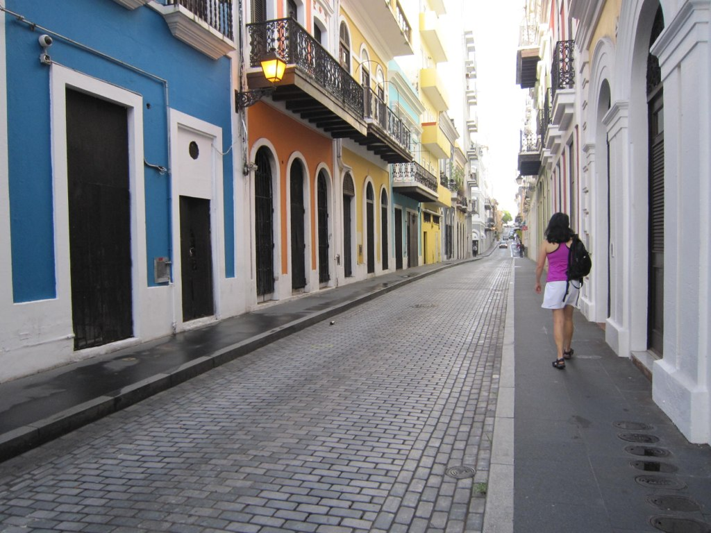 Narrow streets of Old San Juan