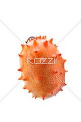 close-up shot of a kiwano melon