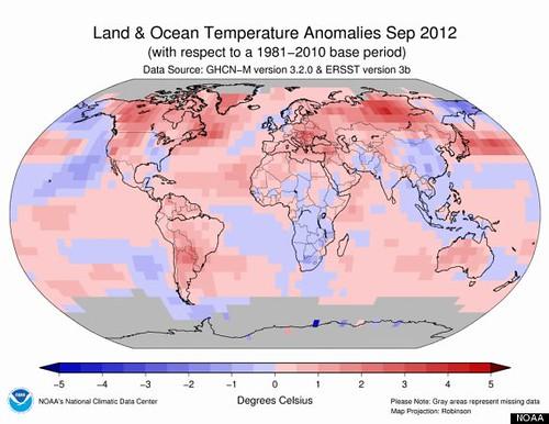Сентябрь 2012 стал самым жарким за всю историю метеорологических исследований